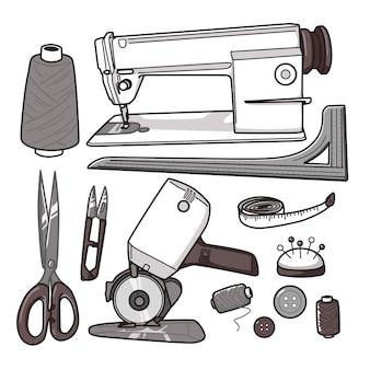 かわいい縫製産業セット