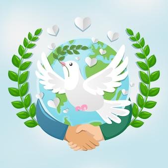 かわいい平和の鳩
