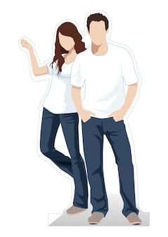 男性と女性の立っているベクトル図