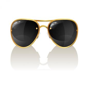 Векторная иллюстрация стильных солнцезащитных очков авиатора