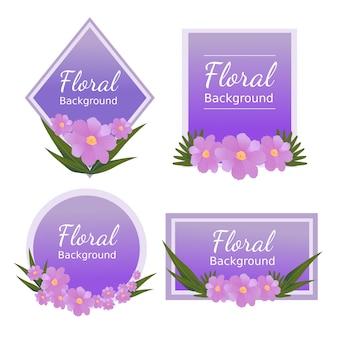 結婚式のための花のバナーの背景デザイン
