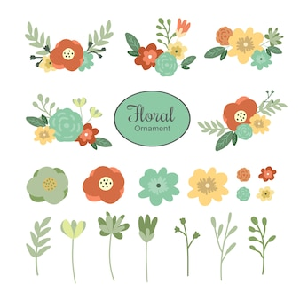 結婚式招待状の花飾りコレクション