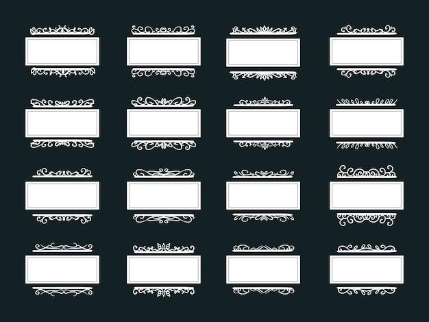 Урожай белая рамка украшения коллекции для свадебного приглашения
