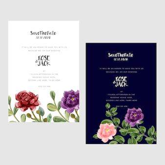 Современные свадебные открытки с акварелью
