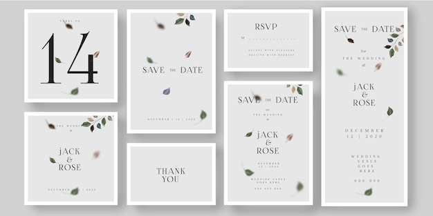 簡単な結婚式の招待状