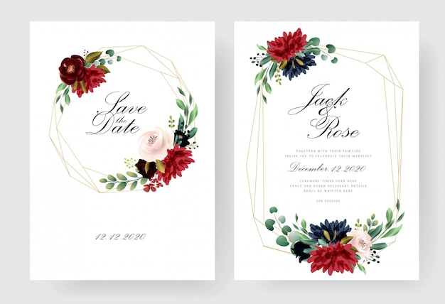 Бургундская коллекция свадебных пригласительных билетов