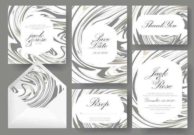 Абстрактная коллекция свадебных пригласительных билетов