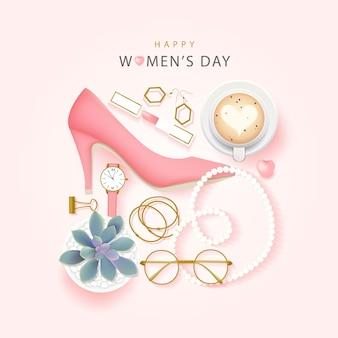 幸せな国際女性の日の背景