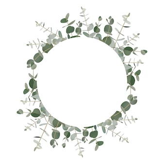 Зелень эвкалипта фон рамки