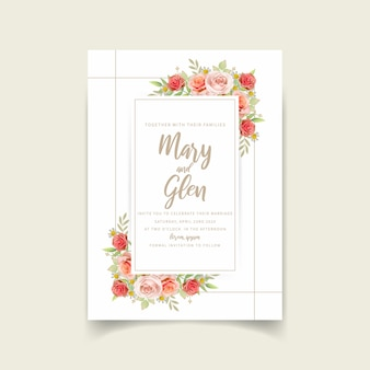 Свадебные приглашения с цветочными розами