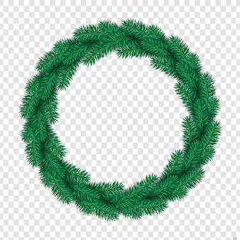 クリスマスのパインリーフの花輪のベクトル