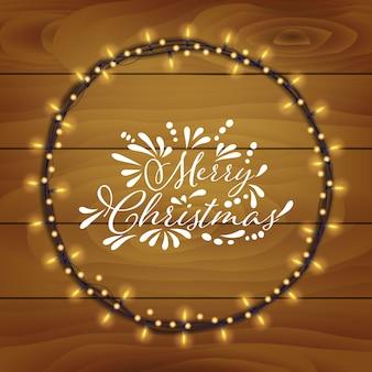 木のテクスチャベクトルとクリスマスの背景