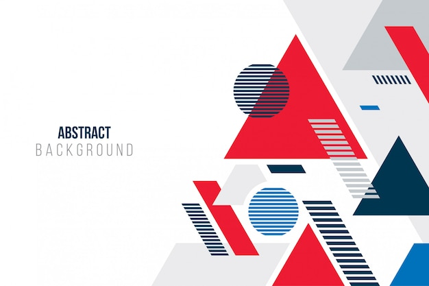 幾何学的形状と抽象的な背景