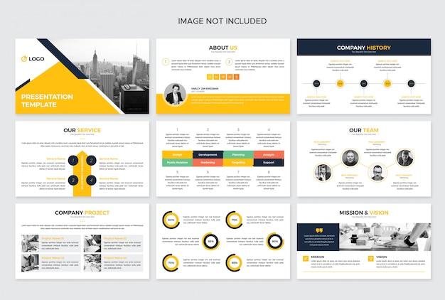 インフォグラフィック要素を持つビジネスプレゼンテーション