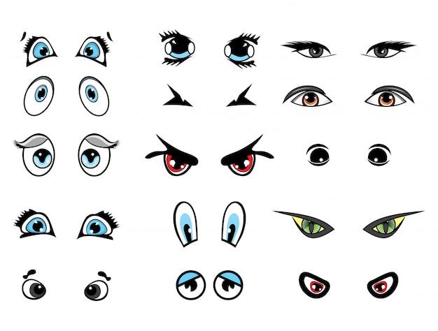 Мультяшный векторная иллюстрация глаза коллекция