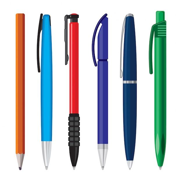 Ручки офисные векторная иллюстрация
