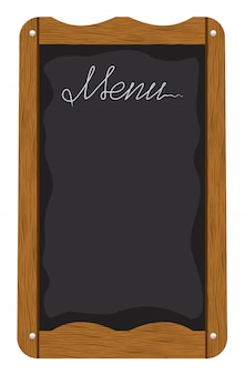 Доска меню вне ресторана или кафе