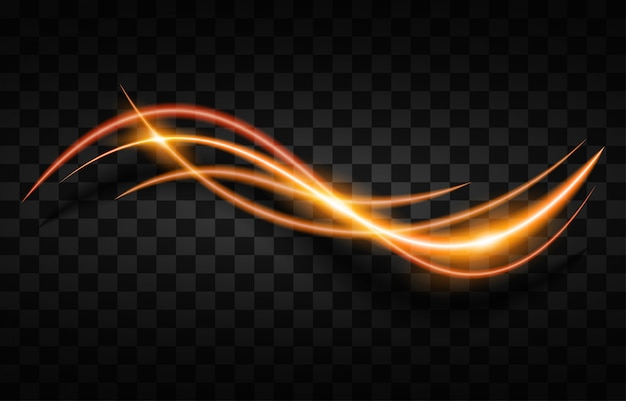 光ストリーク高速効果。抽象的な背景の速度。
