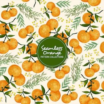 シームレスなオレンジパターンコレクション