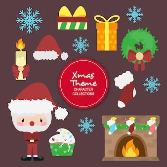 アシュリークリスマスの冬のキャラクター