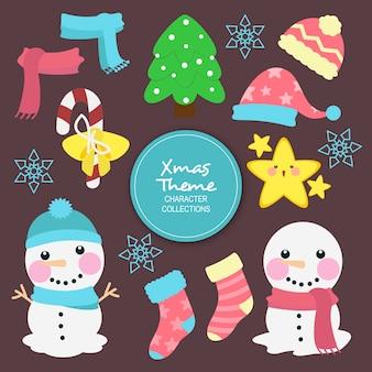 ハンスクリスマスの冬のキャラクター