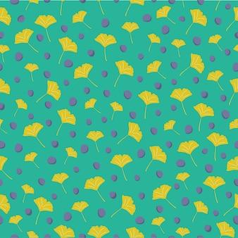 イチョウはシームレスなパターンの背景を残す