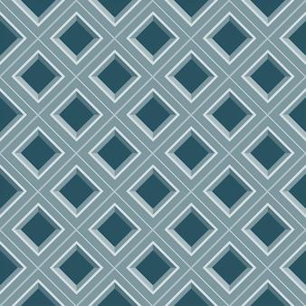 シームレスな抽象的な幾何学的な青いメッシュパターン
