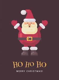 Счастливый смех санта-клауса рождественская открытка