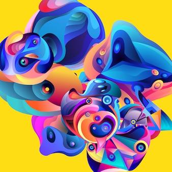ベクトル図カラフルな抽象的な流体の背景