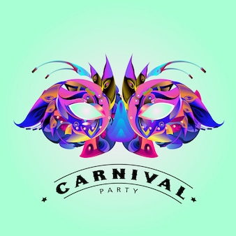 カーニバルマスクのベクトルカラフルなイラスト