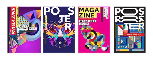 Шаблон оформления обложки и постера для журнала