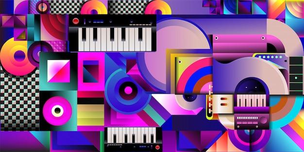 Векторная иллюстрация красочный музыкальный фон