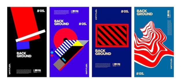 Коллекция абстрактных красочных геометрических обложек