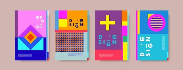 Абстрактные красочные коллаж плакат дизайн шаблона