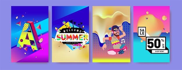 Набор для продажи и продвижения летних каникул
