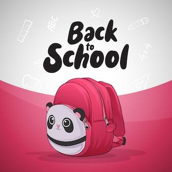 学校に戻るピンクのバッグ