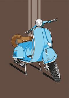 Синие обои скутер