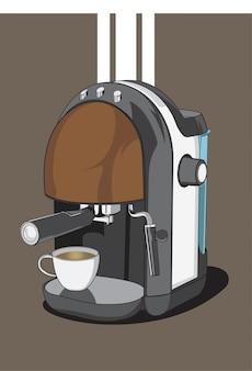 Эспрессо кофеварка фон