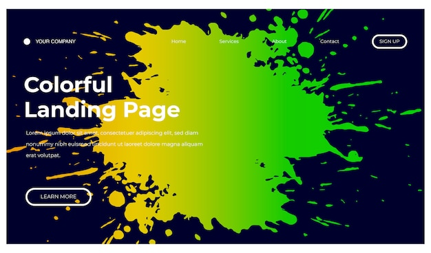 ランディングページのスプラッシュカラフルな背景