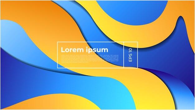 グラデーションシェイプと波状の幾何学的な背景