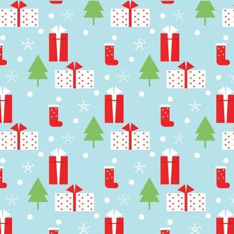シームレスなパターンクリスマスの背景