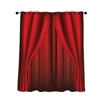 リアルな豪華な赤いベルベットのカーテン