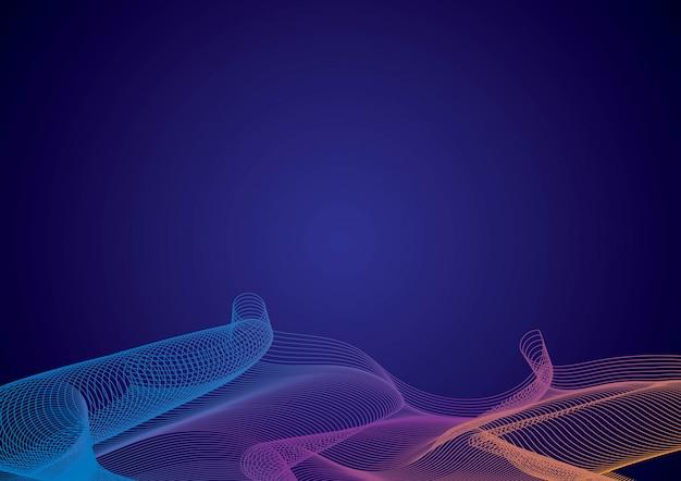 最小限の要素のカラフルな創造と流体の背景
