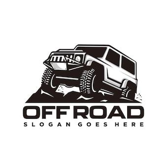 オフロード車のロゴテンプレート