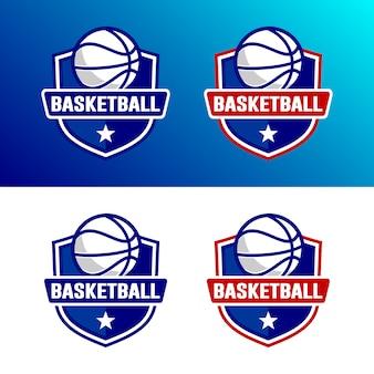 バスケットボールのロゴテンプレートのセット