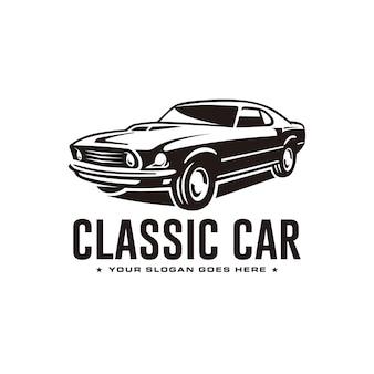 Шаблон логотипа классического автомобиля