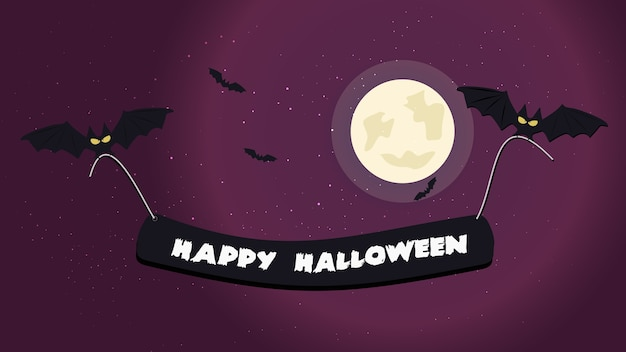 ハロウィーン夜の背景画像