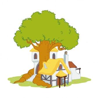 田舎の木の家