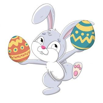 イースターバニー隠れ卵