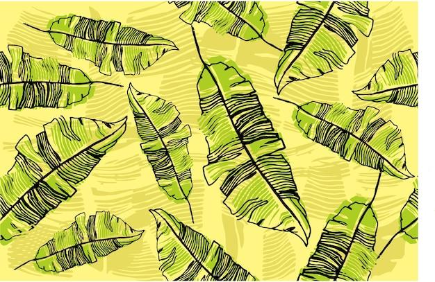 Дизайн банановых листьев